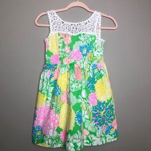 Lilly Pulitzer sz 10 girls floral sun dress